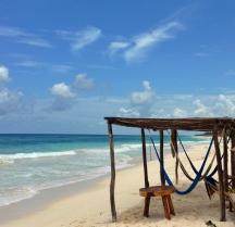 en playa