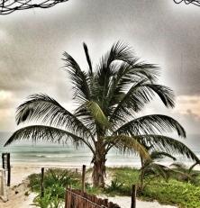 diluviando en la playa