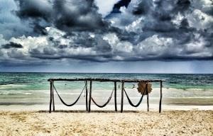 hamacas frente al mar