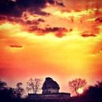 atardecer frente al observatorio