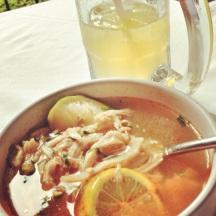 sopa de lima y chelada