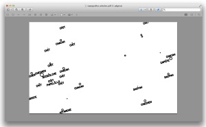 detalle topografico con arboles