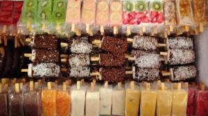 combinación de sabores y colores