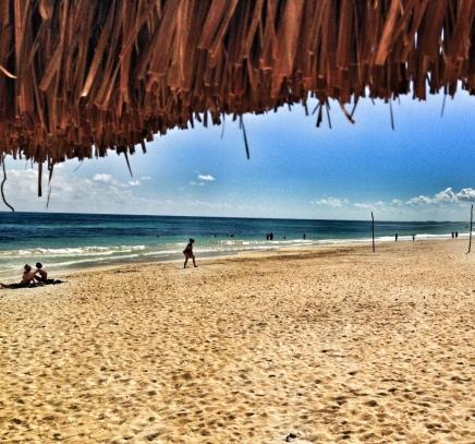playa soleada de Enero